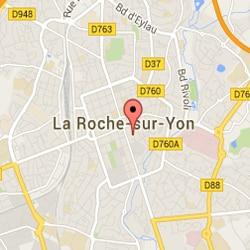 Plan d'accès à Carole Institut la Roche sur Yon